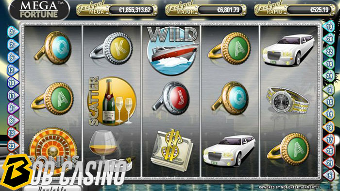 mega fortune that provides some of the biggest online slot wins.