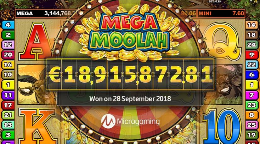 Huge win in one of the best progressive jackpot slots - Mega Moolah.