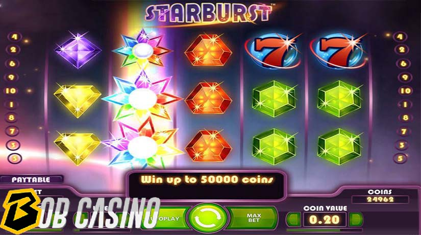 Starburst - most popular NetEnt slot game