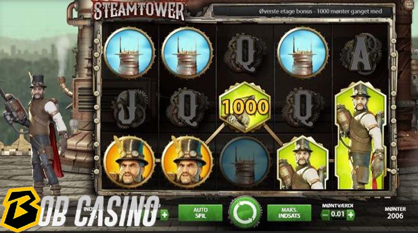 bonus round in steam tower slot on bob casino