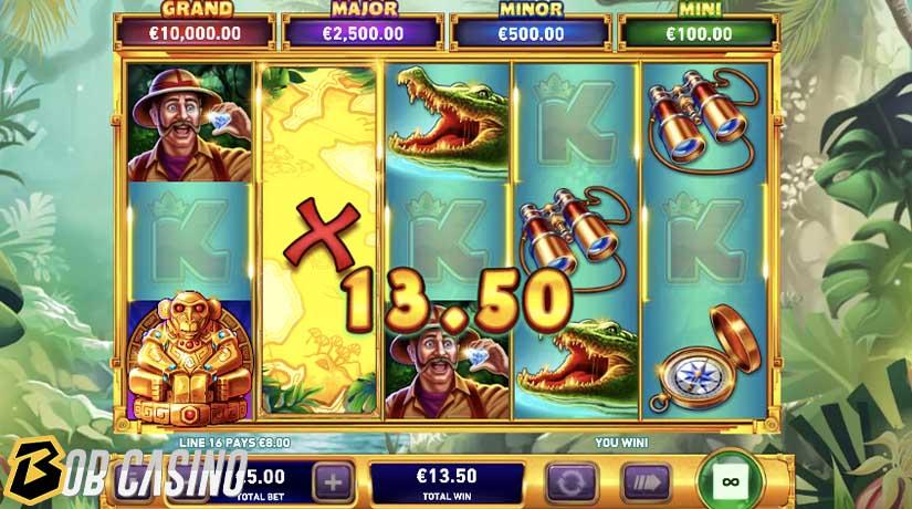 Putaran bonus dalam Adventure Trail Slot di Bob Casino