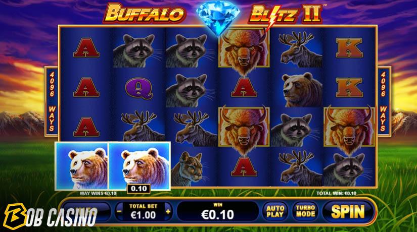 Putaran Bonus di Slot Buffalo Blitz II
