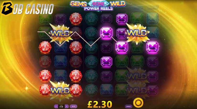 Putaran Bonus di Gems Gone Wild Power Reels Slot