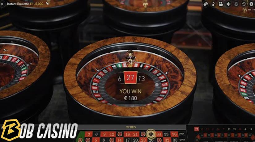Kemenangan 180 euro dalam Roulette Instan