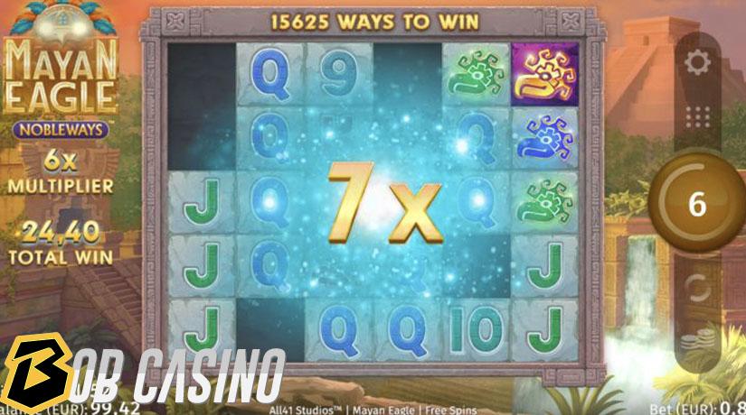 Putaran Bonus di Slot Mayan Eagle Nobleways di Bob Casino
