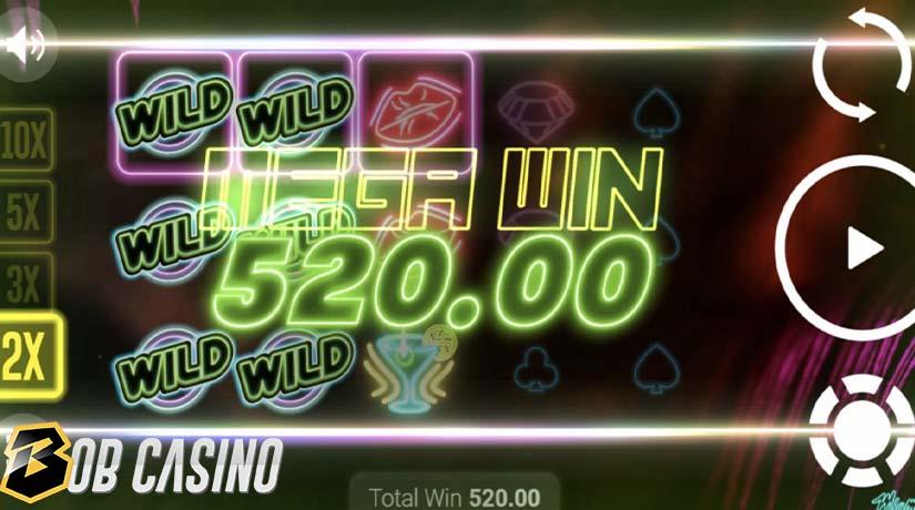 Putaran Bonus di Miami Glow Slot di Bob Casino