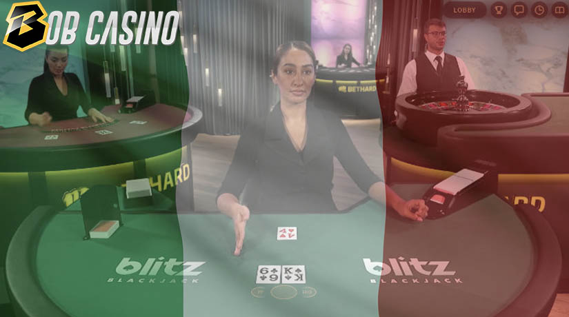 Blitz Blackjack Versi Italia Langsung di Bob Casino