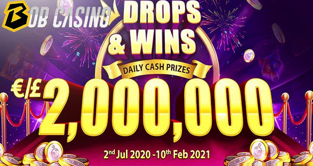 Drops and wins tournament on Bob Casino