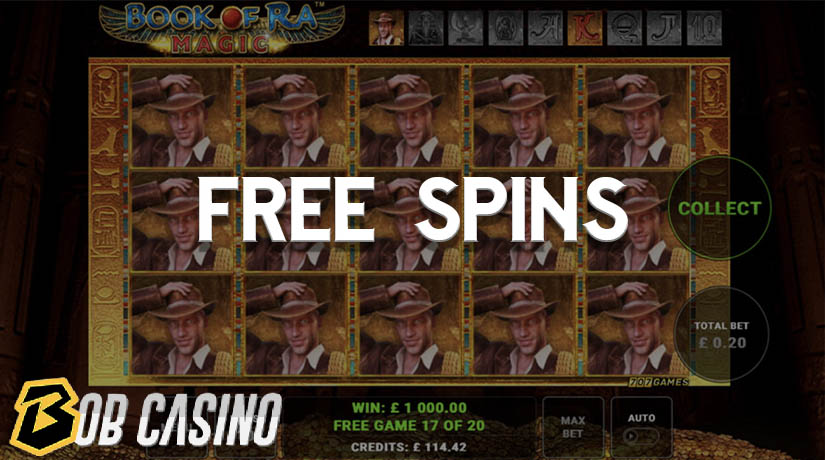 Free spins in the Book of Ra Slot.