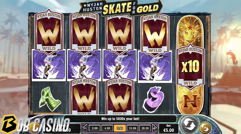 Bonus Round in Skate For Gold Slot on Bob Casino