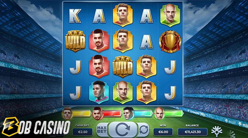 Bonus Round in Football Glory Slot on Bob Casino