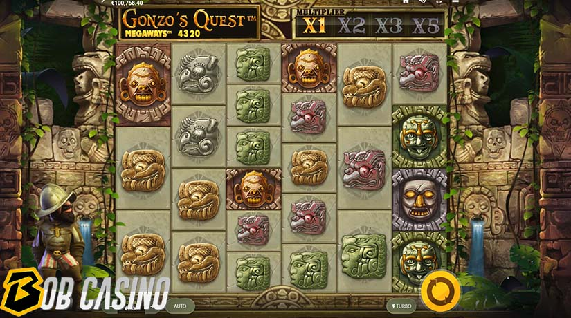 Bonus round in Gonzo's Quest Megaways Slot