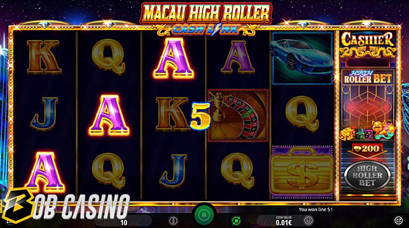 Bonus Round in Macau High Roller Slot