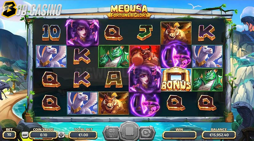 Bonus Round in Medusa vs Fortune and Glory Slot