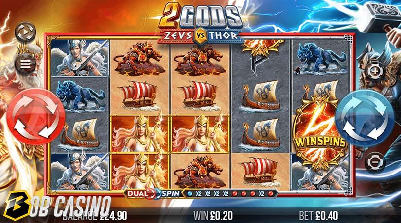 Wild Symbols in 2 Gods Zeus versus Thor Slot