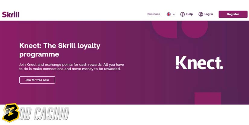 Description of Knect - Skrill loyalty programme that gives bonuses to its users.