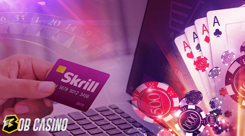 Man using Skrill, which is one of the safest payment methods in online casinos