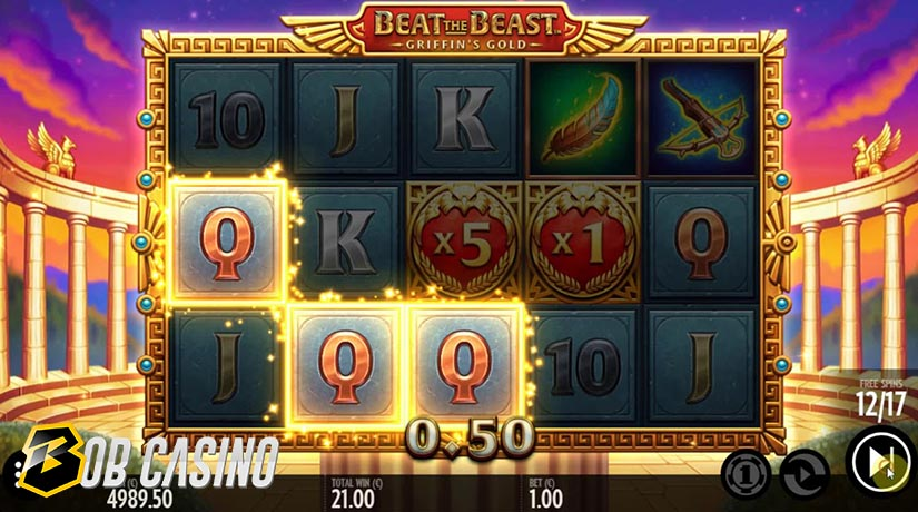 Bonus Round in Beat the Beast: Griffin's Gold Slot