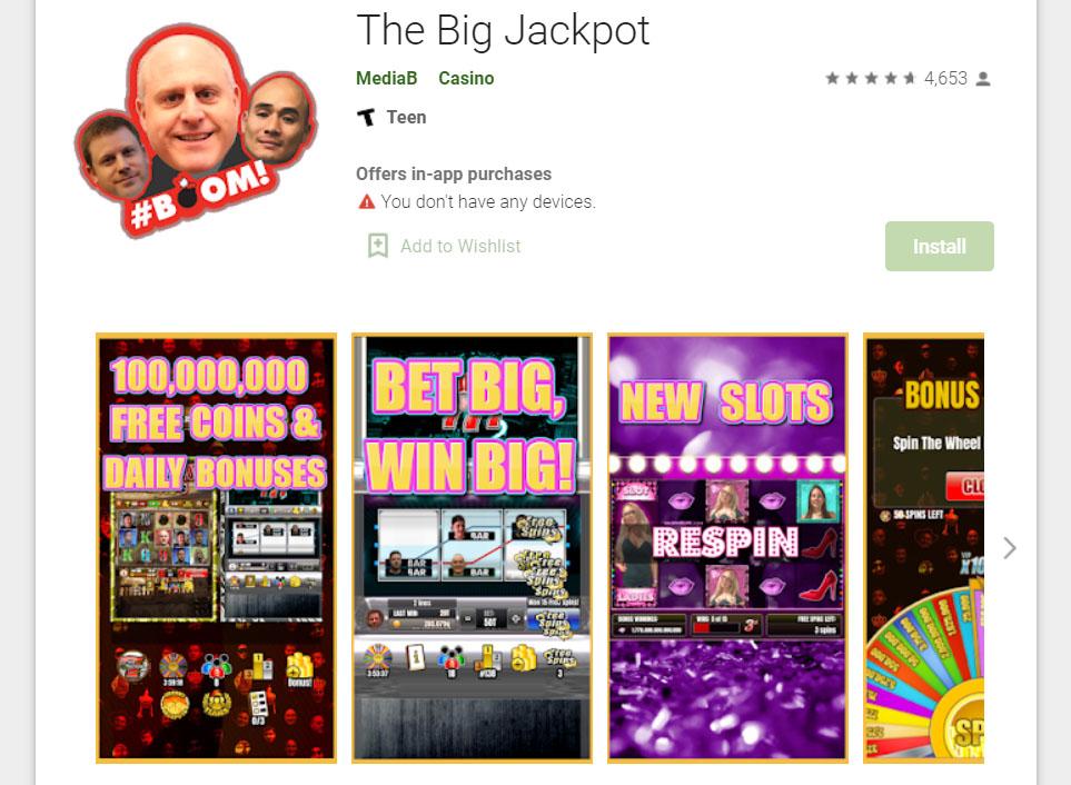 The Big Jackpot app on Google Play