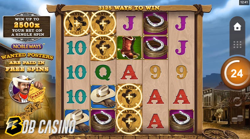 Bonus Round in Wanted Outlaws Slot