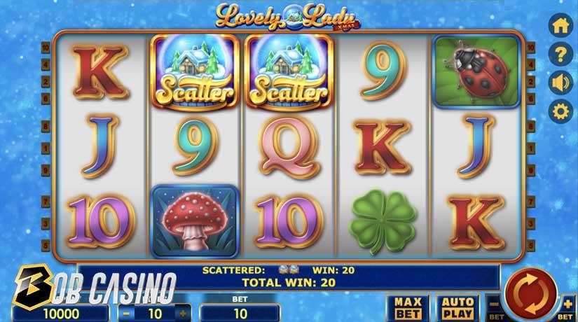 Bonus Round in Lovely Lady Xmas Slot