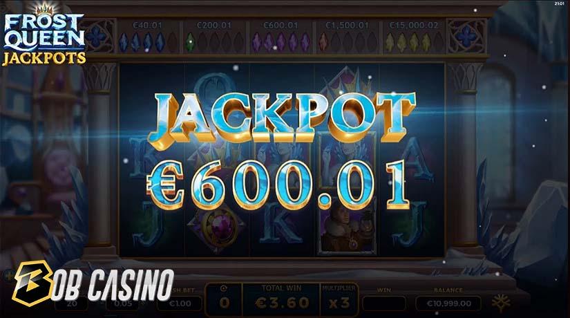Jackpot win in Frost Queen Jackpots