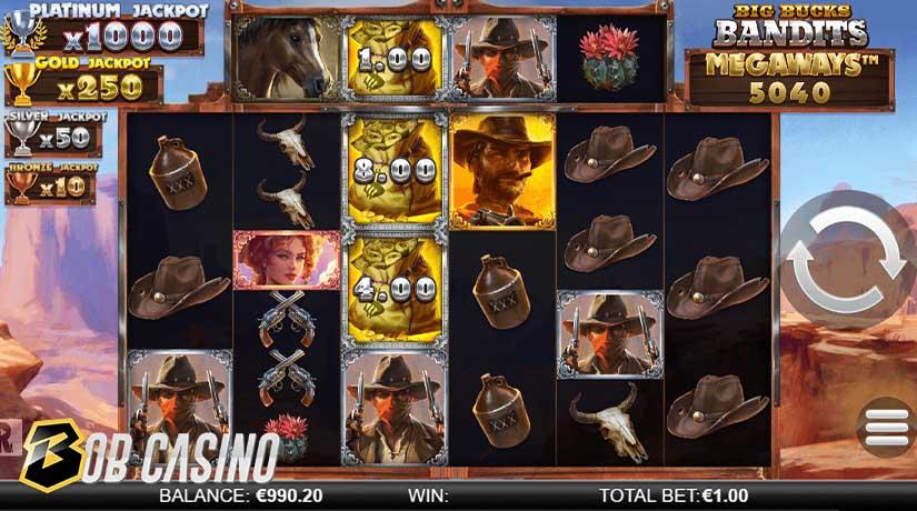 Jackpot in Big Bucks Bandits Megaways