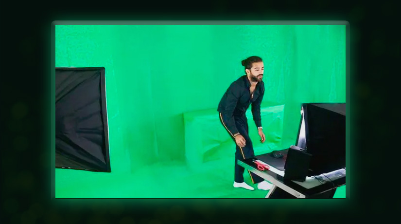 Roshtein's green screen and set up