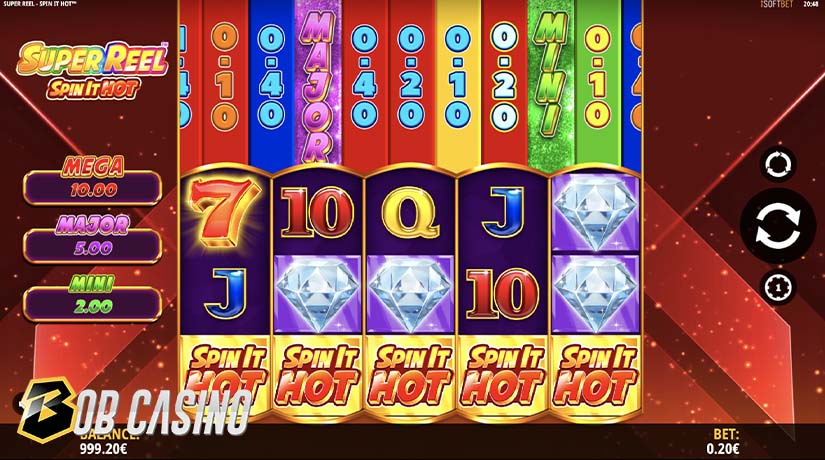 Super Reel™ Spin It Hot Bonus Round