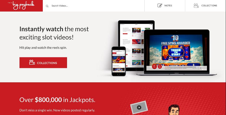 TheBigPayback.com homepage.