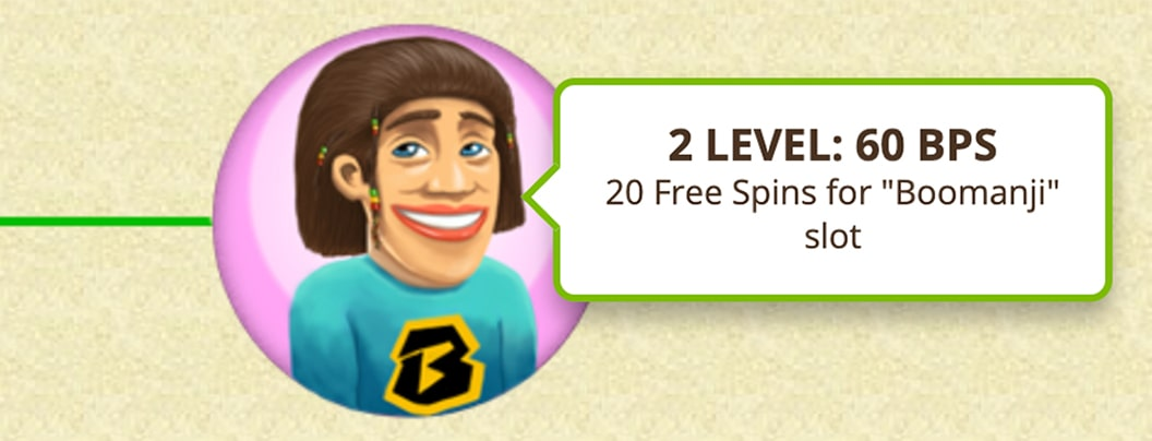 60 Bob Casino comp points in the second level of the VIP program.
