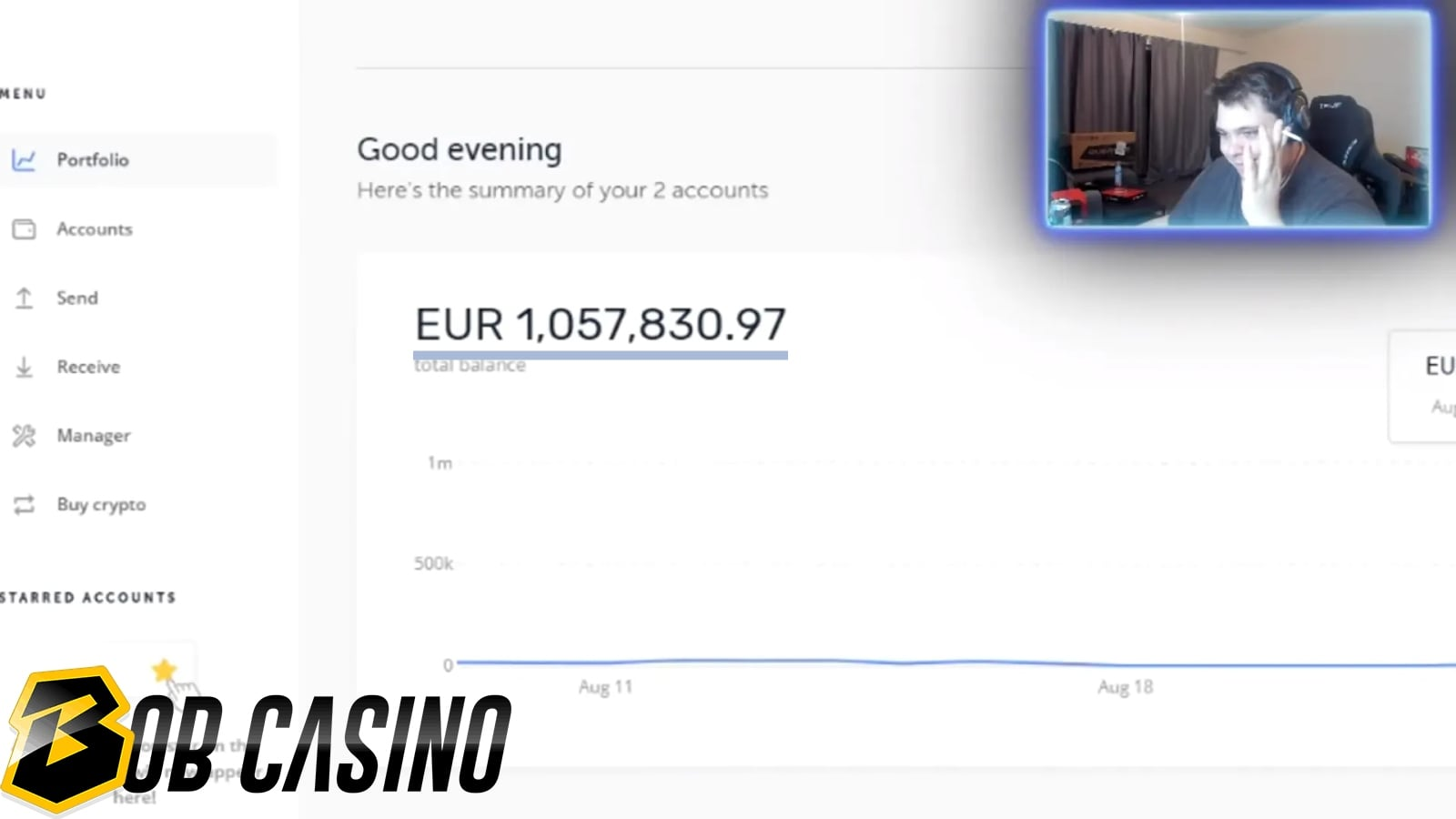 French Twitch casino streamer Teuf's net worth.
