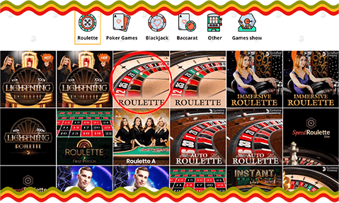 online roulette in Bob Casino live dealer category